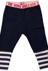 Born to be famous Legging Navy With Yarn Dye Stripe