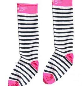 TOPitm Sokken pink/black