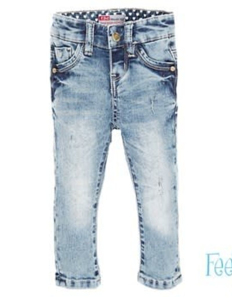 Feetje Broekje Light Blue Denim Power Streched slim fit
