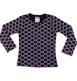 Lofff Shirt Honeycomb Dark blue - Off white