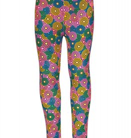 Kidz Art Girls bonded legging long allover print
