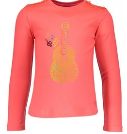 Kidz Art Girls T-shirt l/s guitar
