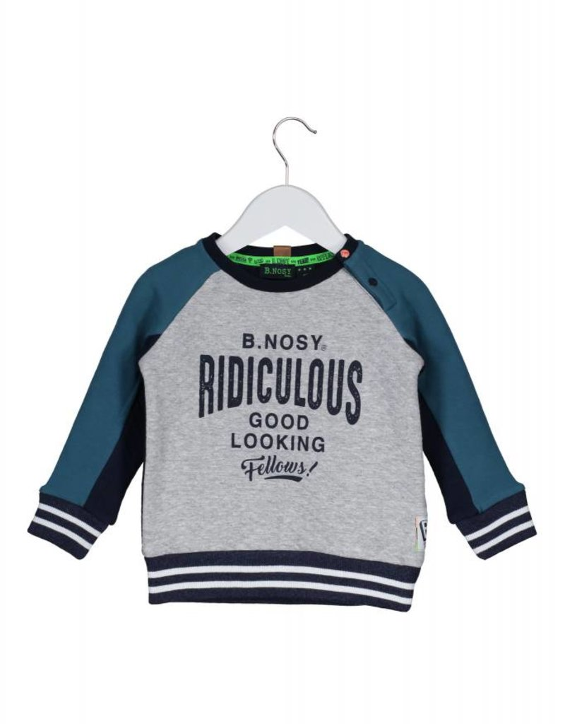 B. Nosy baby boys sweater with quilted body + sleeve part