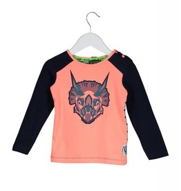 B. Nosy baby raglan shirt with dino hat print+embroidery