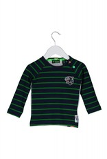 B. Nosy baby raglan stripe shirt with patch. plain backside