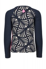 B. Nosy girls ls raglan t-shirt with AO printed body and contrast plain sleeves - Peacock