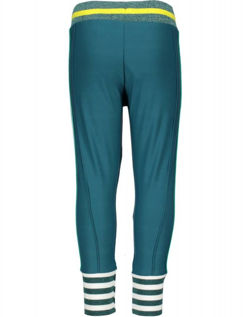 B. Nosy girls pants with big striped cuffs and knitted contrast tape on side seam