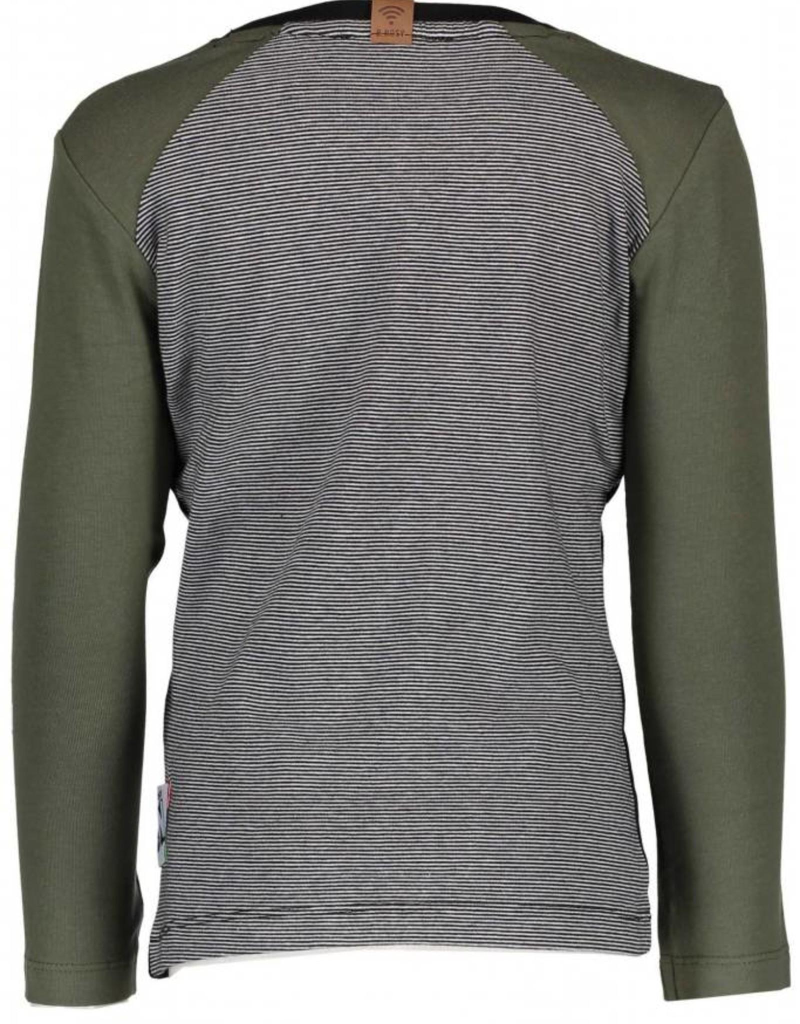 B. Nosy boys fake raglan shirt with yarn dyed stripe backside