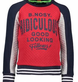 B. Nosy boys sweater with quilted body + sleeve part