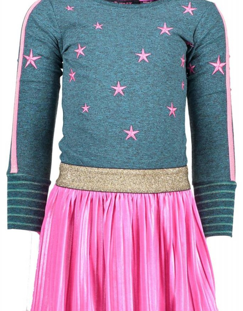 B. Nosy girls dress with plisse velvet skirt part