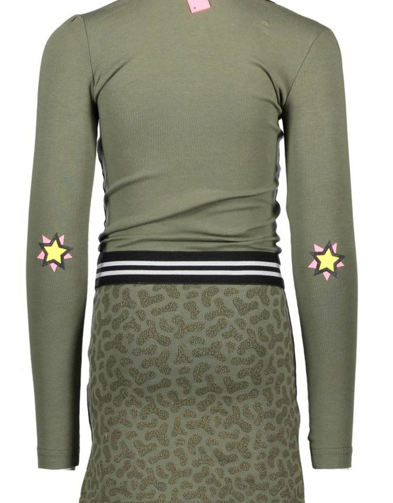 B. Nosy girls ls dress with contrast AO printed skirt part - Crocodile