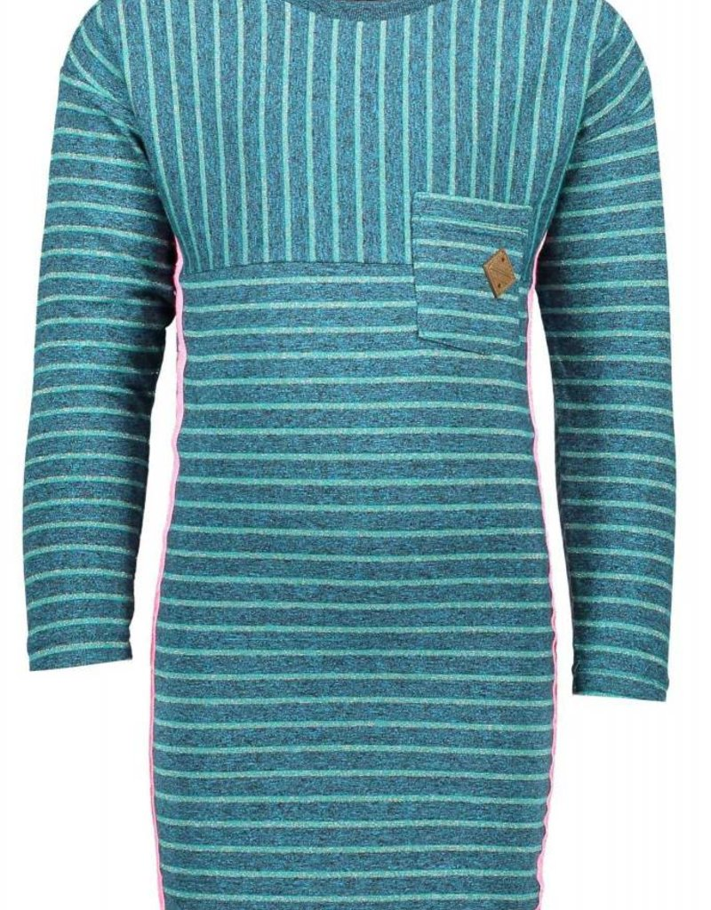 B. Nosy girls ls striped dress with chest pocket