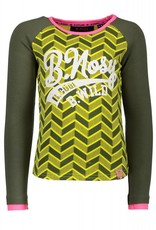 B. Nosy girls ls t-shirt with contrast raglan sleeves