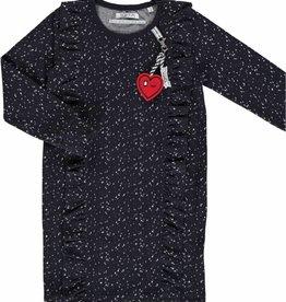 TOPitm Dress Cynthia Dots  dark blue