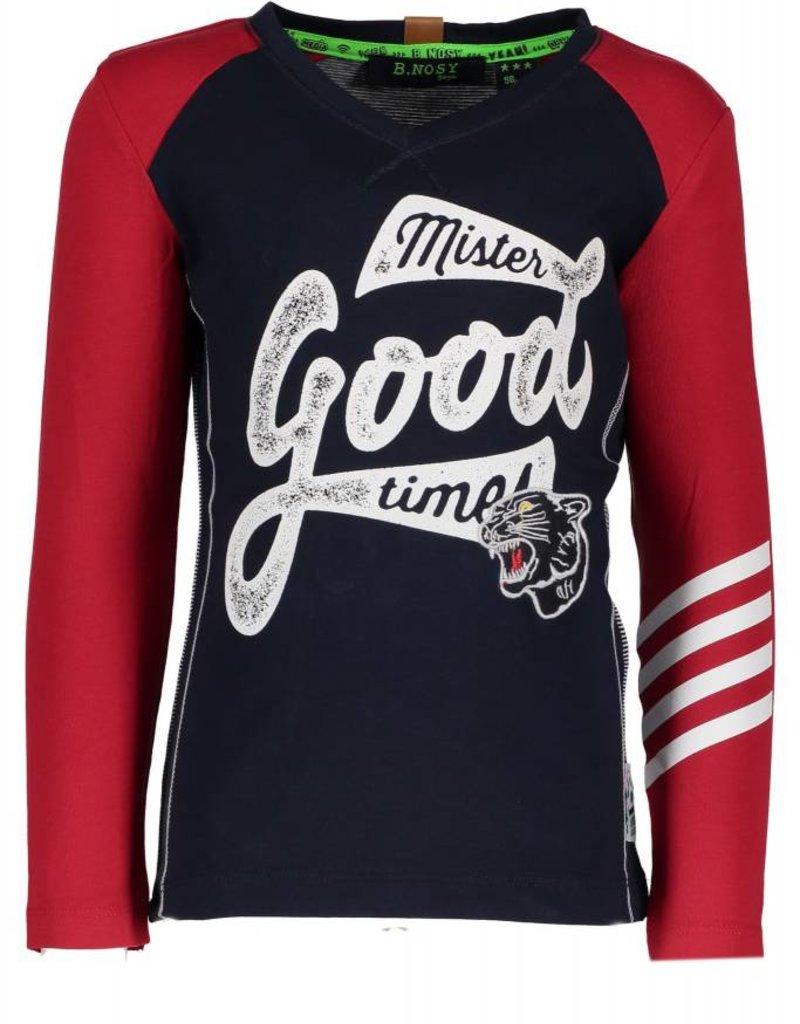 B. Nosy Boys fake raglan shirt with yarn dyed stripe backside peacook