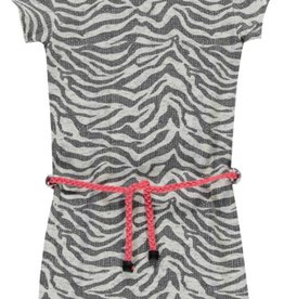 Quapi Basic Dress Saar 1 - Grey Zebra