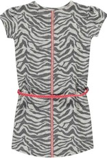 Quapi Basic Dress Saar 1 - Grey Zebra