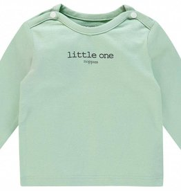 Noppies U Tee ls Hester tekst - Grey Mint