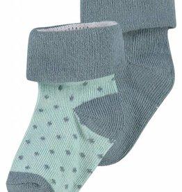 Noppies sokken 2 paar Dot Dark Green