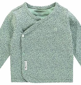Noppies U Tee ls Hannah aop - Grey Mint