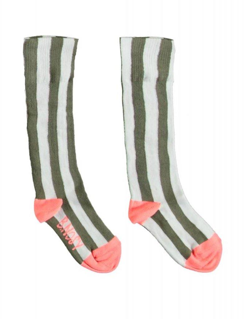B. Nosy Girls socks stripe