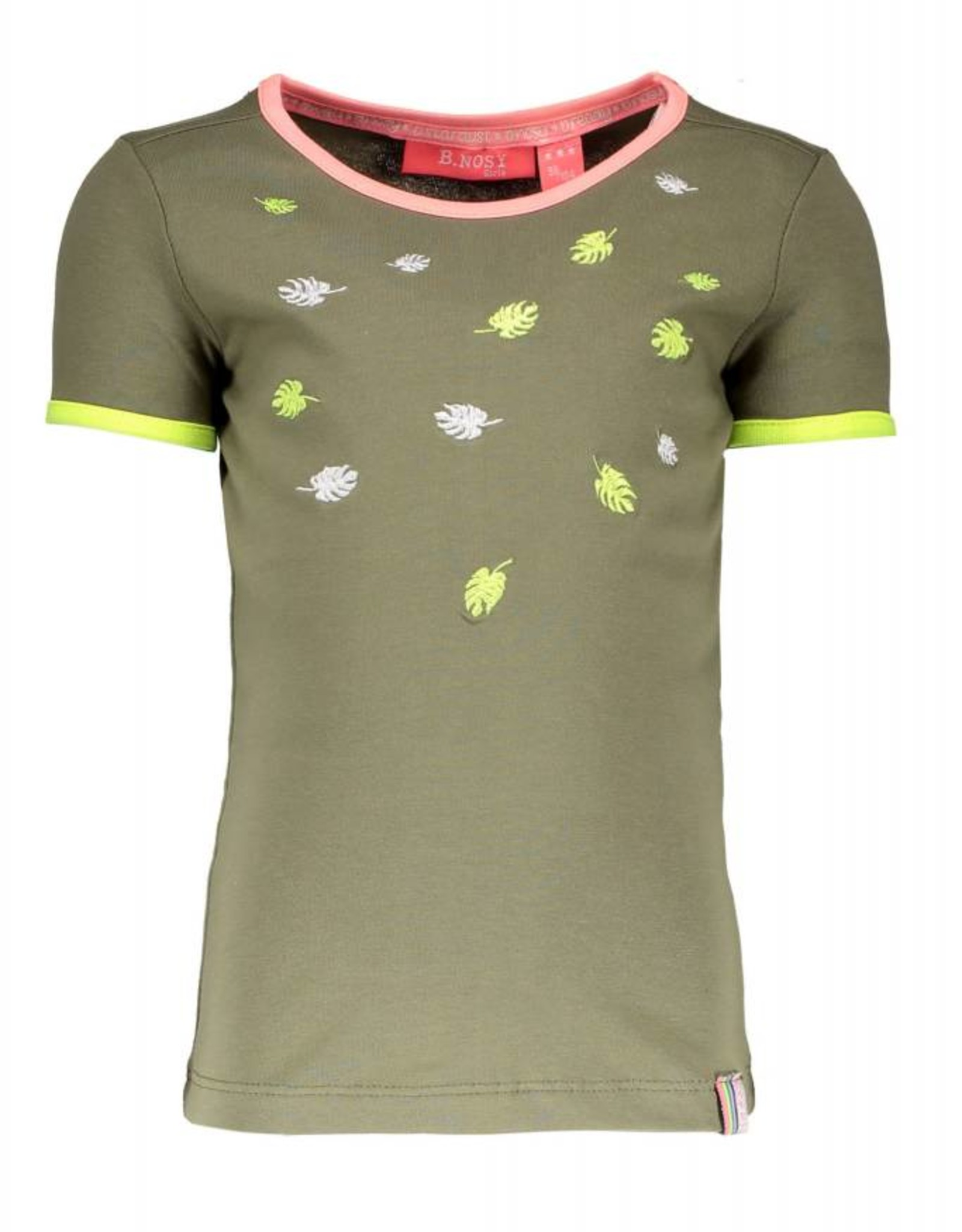 B. Nosy Girls ss leaves embroidery shirt