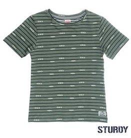 Sturdy T-shirt k/m streep/aop Sunray