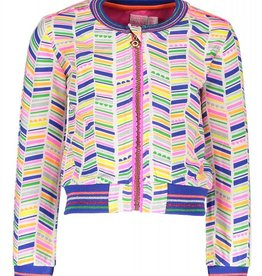 Kidz Art Baseball cardigan allover print with zipper closure