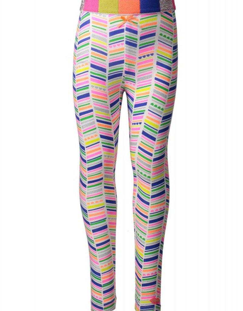 Kidz Art Legging allover print with multi color elastic waist