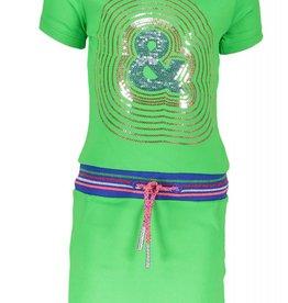 Kidz Art Dress s/s fake pockets + rib waist &