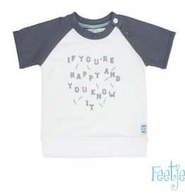 Feetje T-shirt k/m you're happy Smile