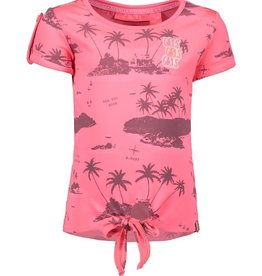 B. Nosy Girls ss knot shirt with allover print
