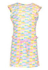 Kidz Art Dress cap sleeve allover + waist cord