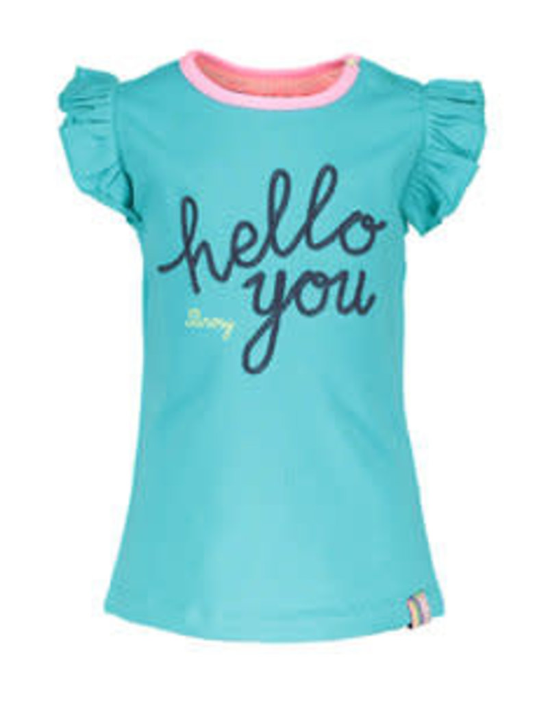 B. Nosy Baby girls shirt with hello you embroidery