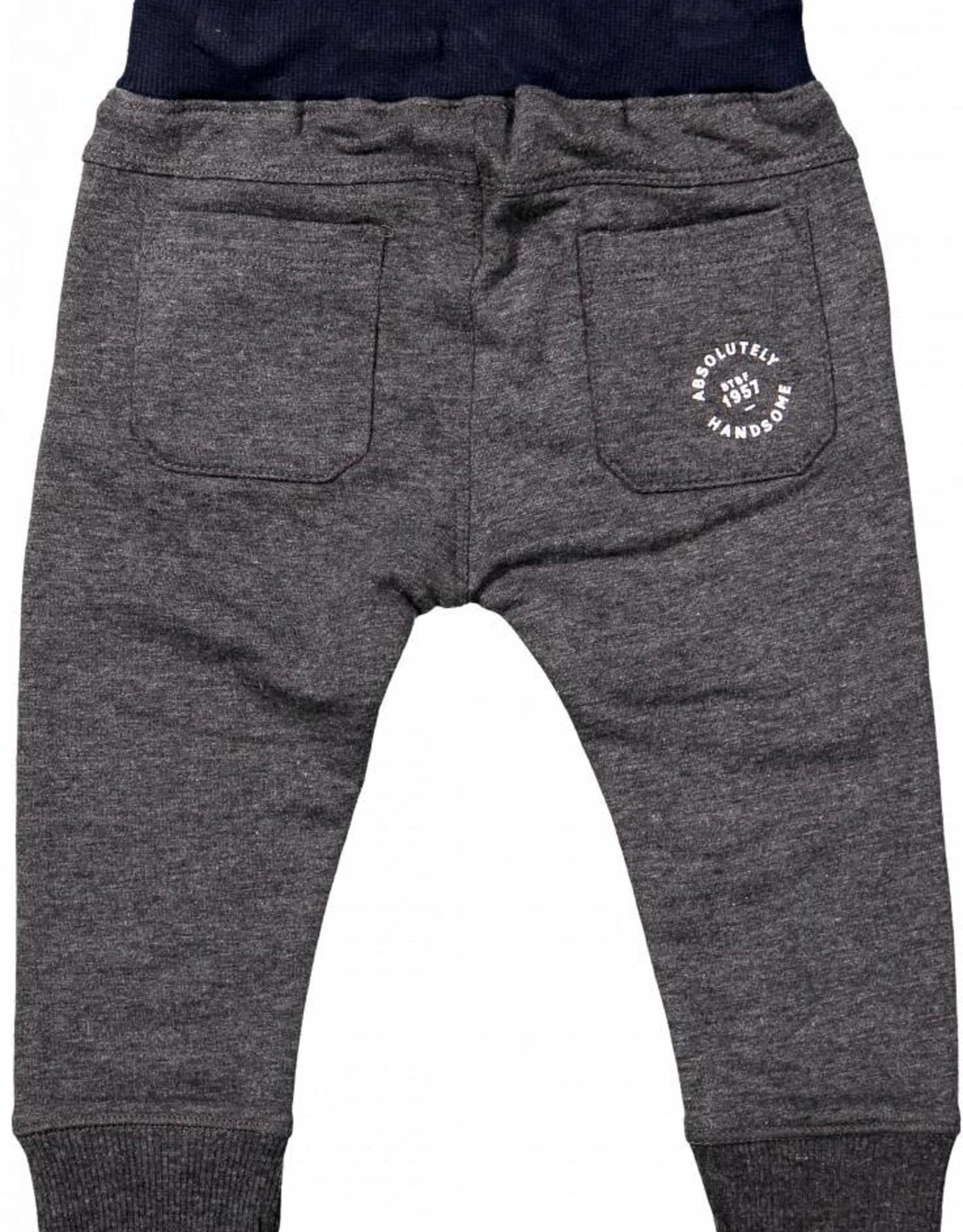 Born to be famous Pants Dark Grey Melange