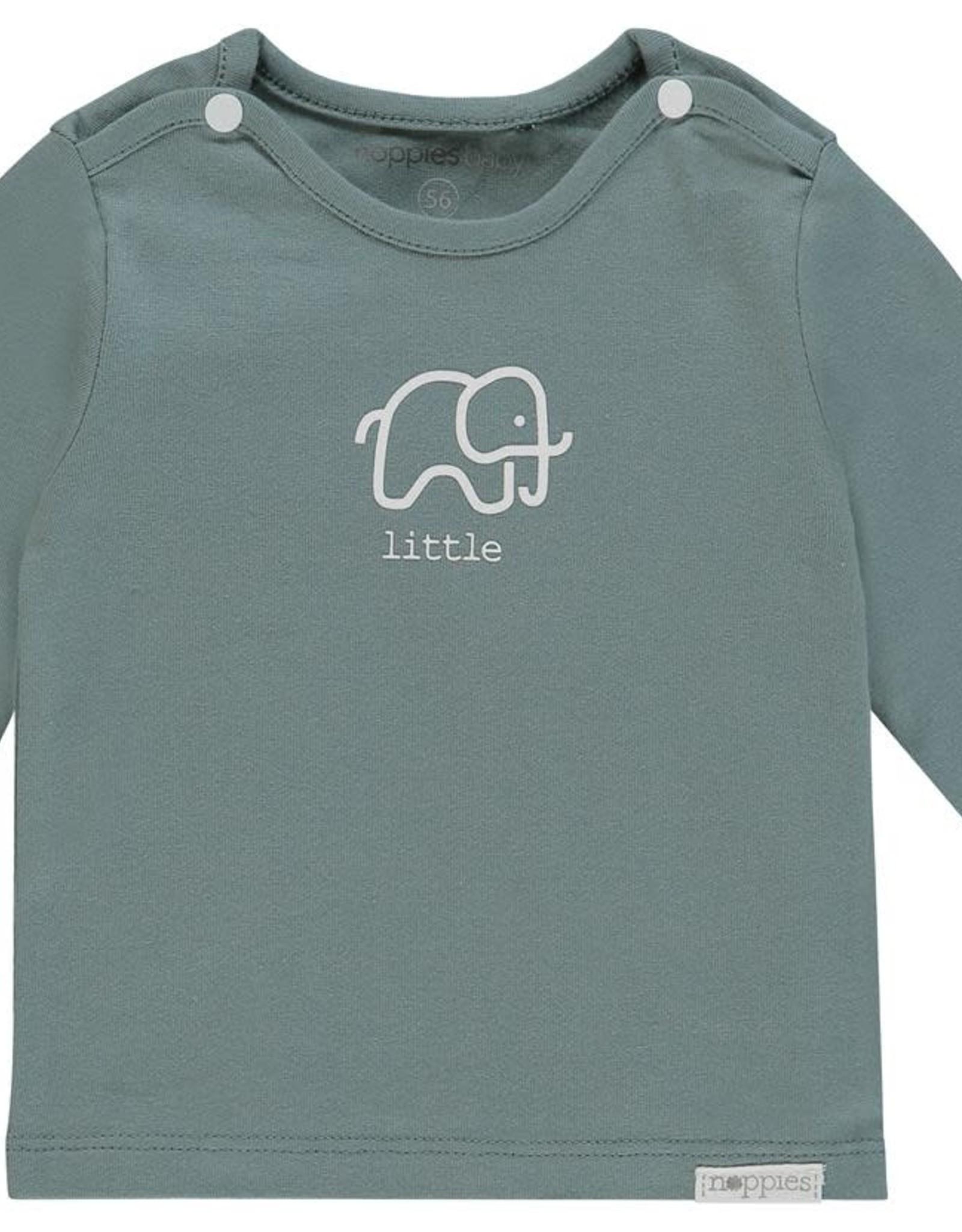 Noppies U Tee ls Amanda elephant - Dark Green