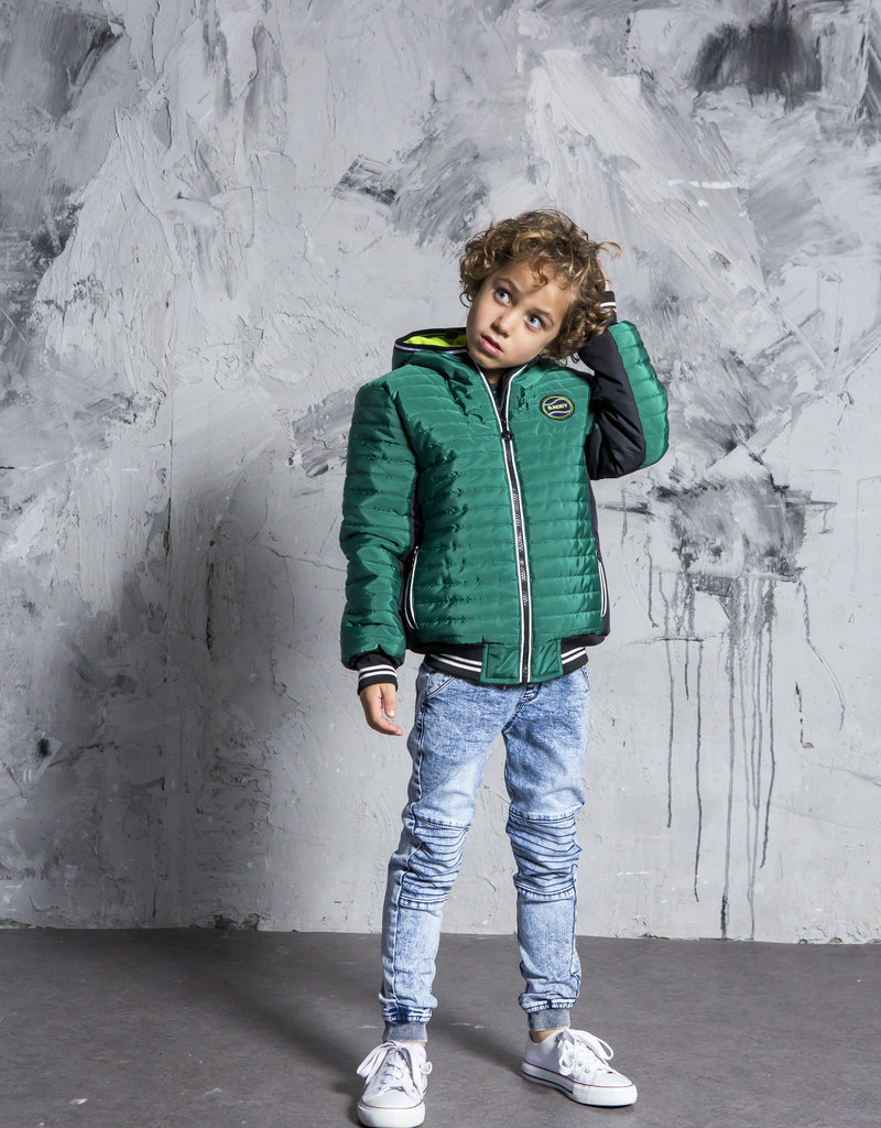 B. Nosy Boys jacket with small stroke stitching and contrast side panels