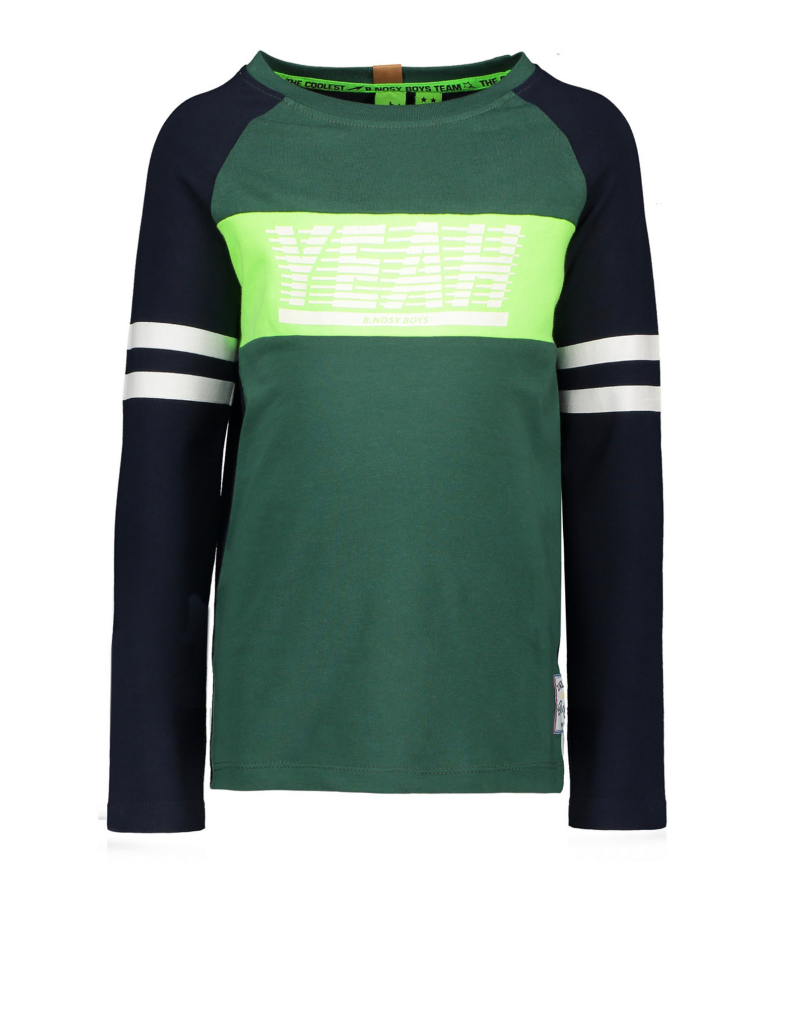 B. Nosy Boys ls. Raglan shirt with contrast stroke on chest