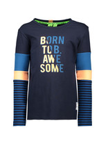 B. Nosy Boys ls. Shirt color block with YD stripe sleeves - Ink blue
