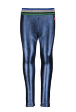Kidz Art Girls legging coated & bonded PU + elastic waist