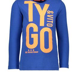 Tygo & Vito T&v  t-shirt LS TYGO&vito bright blue