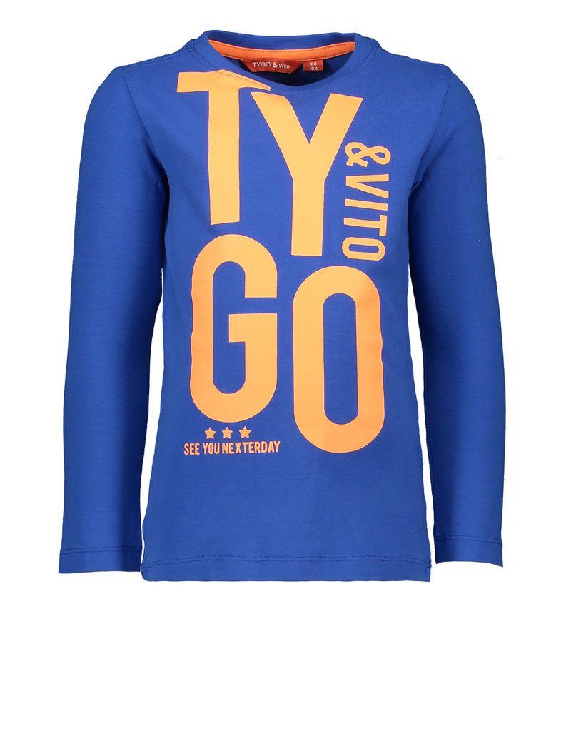 Tygo & Vito T&v  t-shirt LS TYGO&vito bright blue