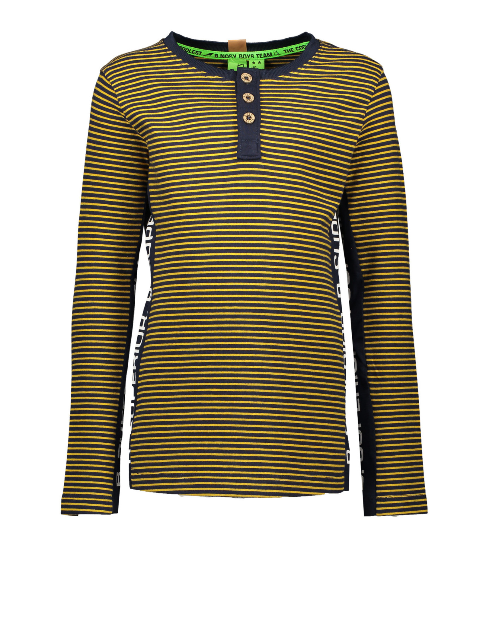 B. Nosy Boys ls shirt with button side part with print on body + sleeve
