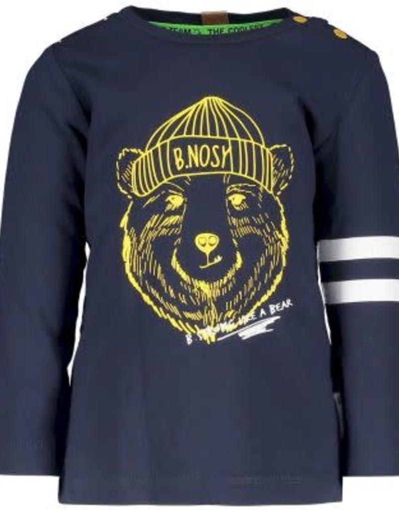 B. Nosy Baby boys ls shirt with bear hd print