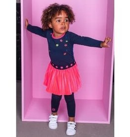 B. Nosy Baby girls dress with velvet plisse skirt, embroidery lips