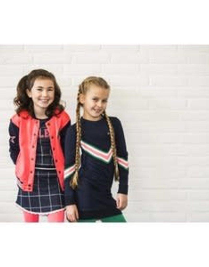 B. Nosy Girls check dress with elasticated waistband, picot edge on hem