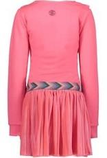 B. Nosy Girls dress with ruffle detail, plissé skirt and fancy tape