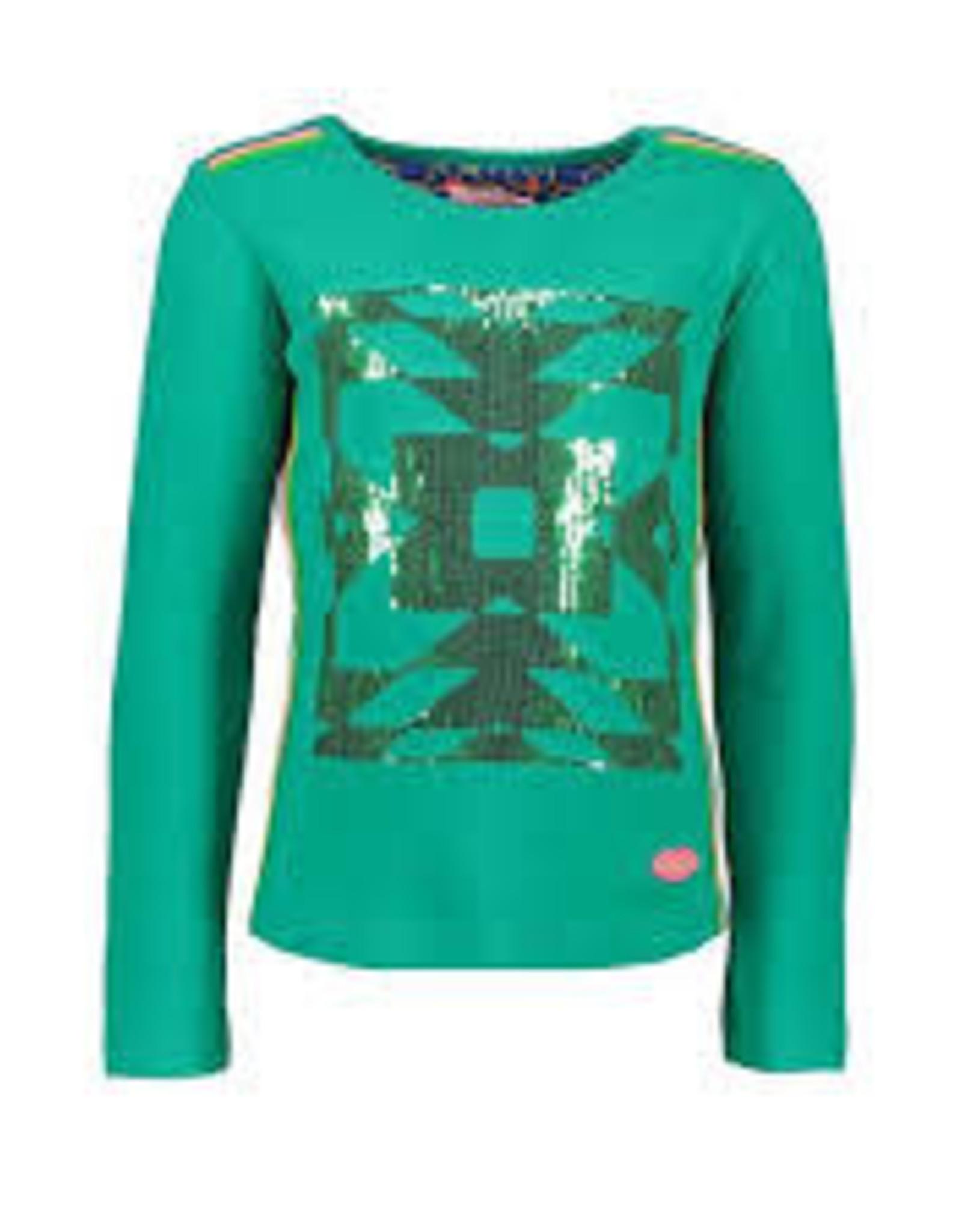 Kidz Art Girls T-shirt l/s sequins + fancy tapes