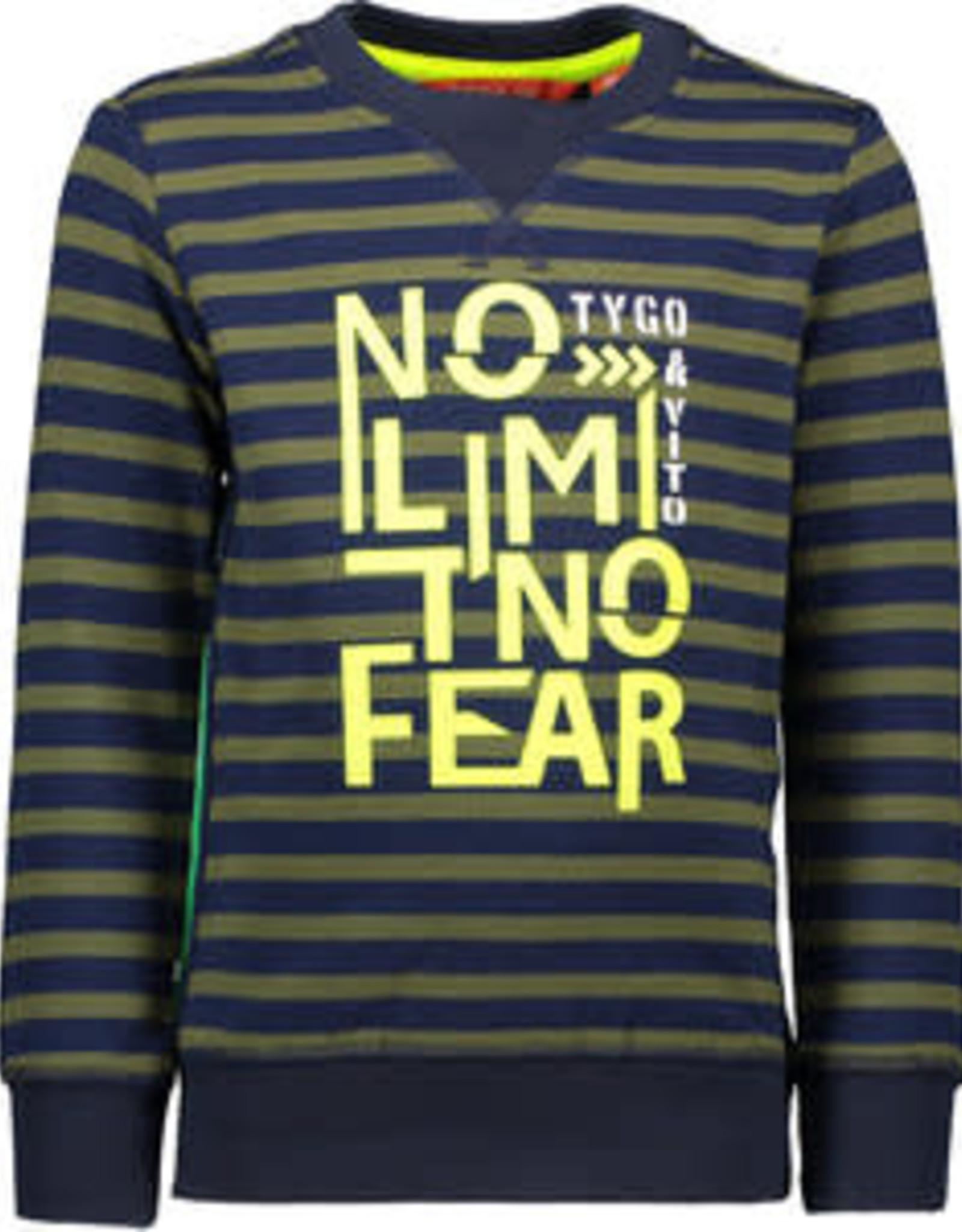 Tygo & Vito T&v  sweater stripe NO LIMIT NO FEAR