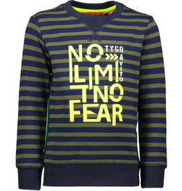 Tygo & Vito T&v  sweater stripe NO LIMIT NO FEAR